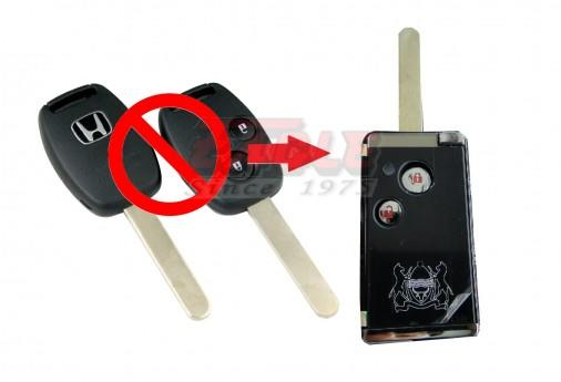 HONFK00012C Honda 2B Remote Key Convert to Flip modification (BLACK)