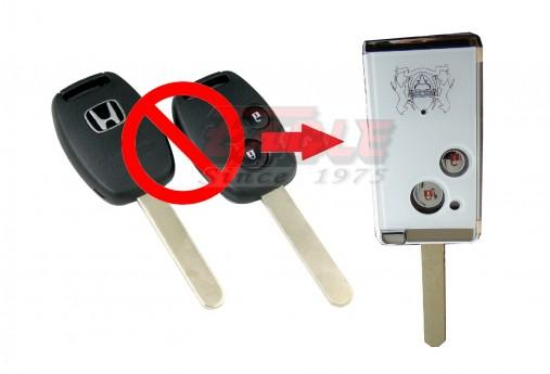 HONFK00022C Honda 2B Remote Key Convert to Flip modification (WHITE)
