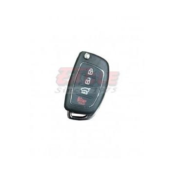 HYNKS000340 Hyundai 3+1 Button Remote Flip Key Shell