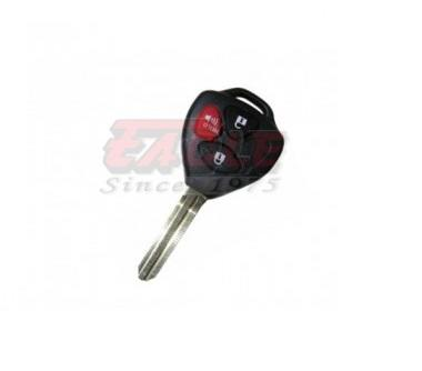TOYKS001130 Toyota 3 Button Left Remote Key Shell Triangle TOY43