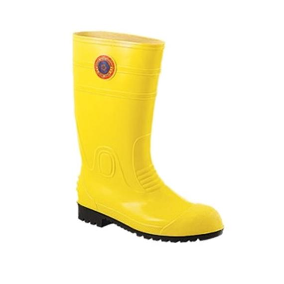 Korakoh 8000A PVC Safety Boots (Yellow) with Steel Toe Cap & Steel Mid Sole