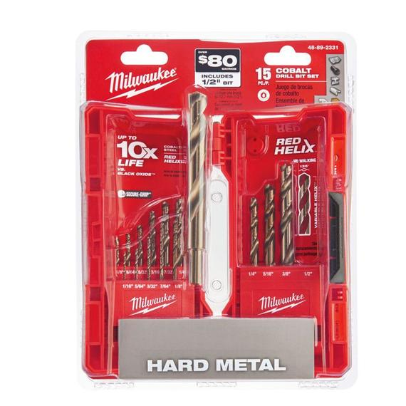15 Piece Cobalt RED HELIX™ Kit 48-89-2331 Milwaukee