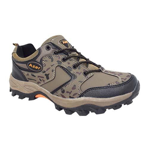 AZER - MILITARY STYLE HIKING SHOE (S 178-BN) BROWN