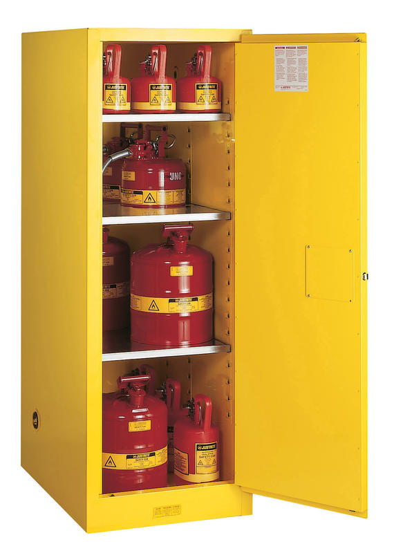 54Gallons Sure-Grip® EX Manual-Close Slimline Safety Cabinet for Flammables