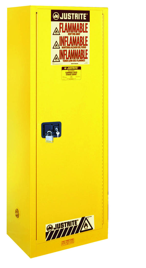 54Gallons Sure-Grip® EX Self-Close Slimline Safety Cabinet for Flammables