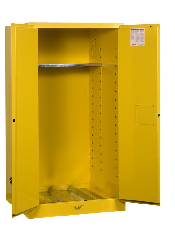 55Gallons Sure-Grip® EX Manual-Close Vertical Drum Safety Cabinet for Flammables