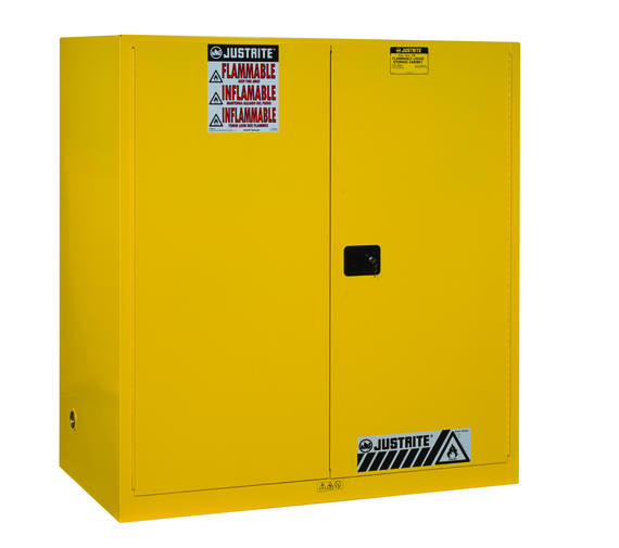 110Gallons Sure-Grip® EX Manual-Close Vertical Drum Safety Cabinet for Flammables