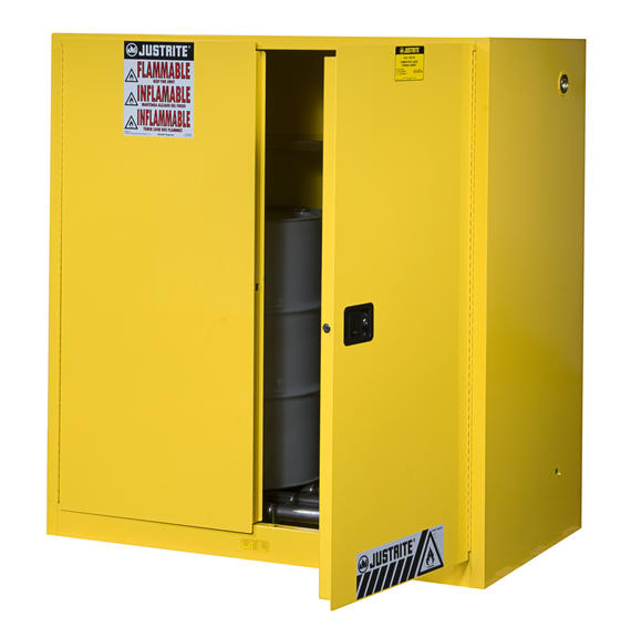 60Gallons Sure-Grip® EX Manual-Close Vertical Drum Safety Cabinet for Flammables