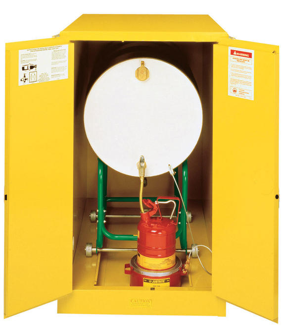 55Gallons Sure-Grip® EX Manual-Close Horizontal Drum Safety Cabinet for Flammables