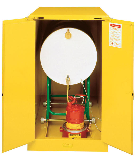 55Gallons Sure-Grip® EX Self-Close Horizontal Drum Safety Cabinet for Flammables