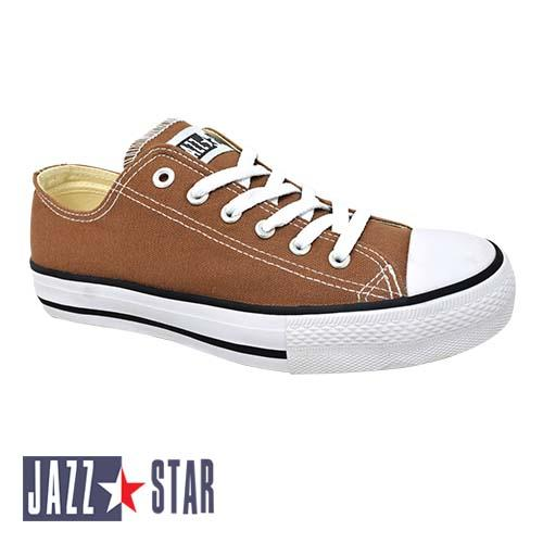 PALLAS JAZZ STAR LOW CUT SHOE LACE (407-096 L.BN) LIGHT BROWN