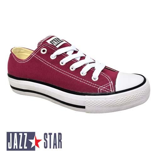 PALLAS JAZZ STAR LOW CUT SHOE LACE (407-096 M) MAROON