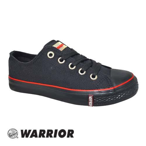 WARRIOR LOW CUT LACE UP SHOE (W 3338-BK) BLACK