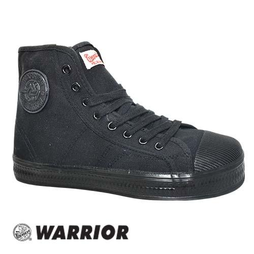 WARRIOR MID CUT LACE UP HOE (WB 8B-BK) BLACK