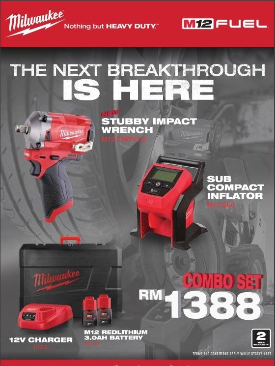 MILWAUKEE  M12 FIWF12-302C+M12BI-0