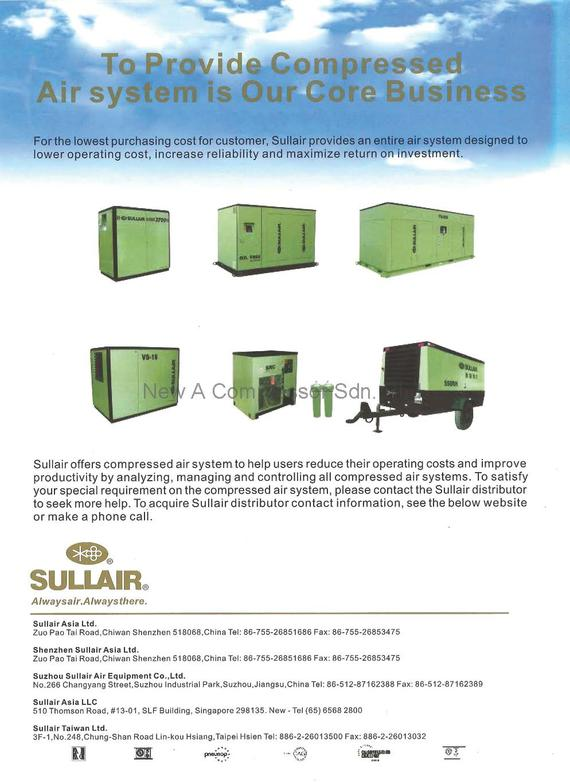 Sullair Screw Air Compressor