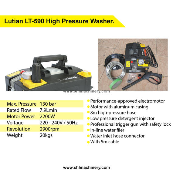 Lutian LT-590 High Pressure Washer.