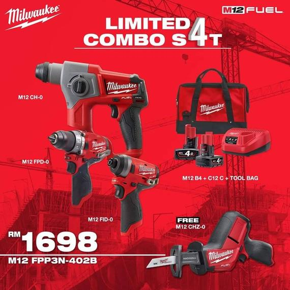 MILWAUKEE LIMITED COMBO SET RM1698.00