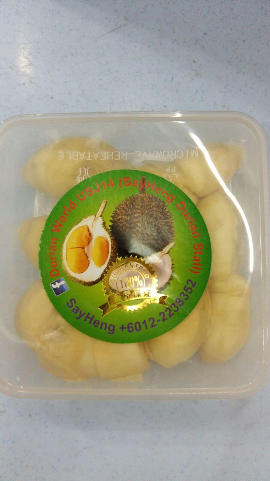 FROZEN DURIAN IN PLASTIC BOX