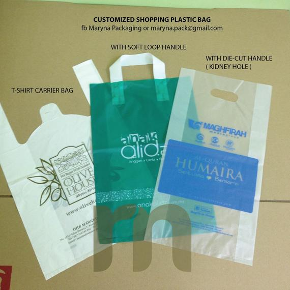 CUSTOMIZE PLASTIC BAG WITH LOGO PRINTING