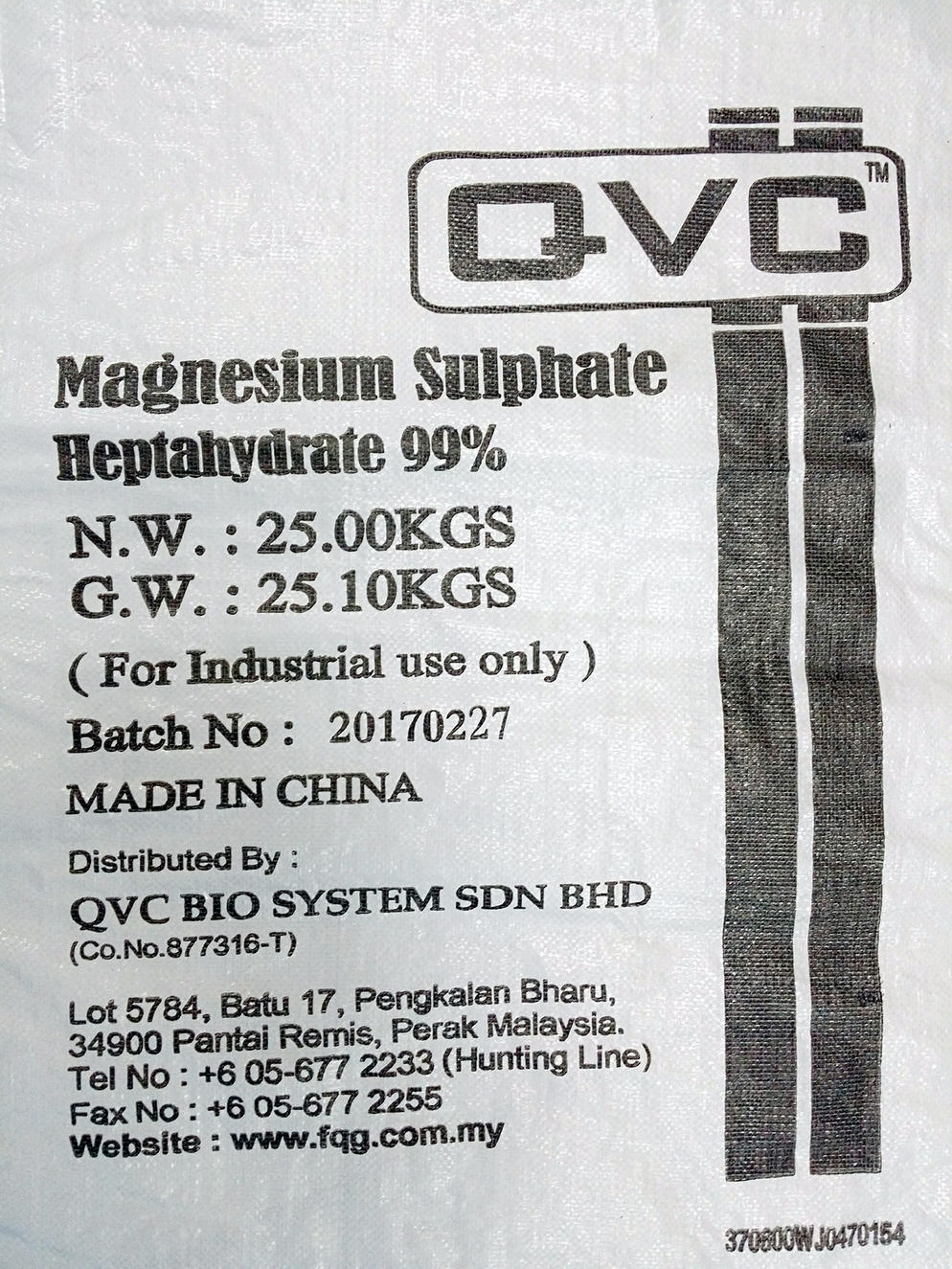 QVC Magnesium Sulphate
