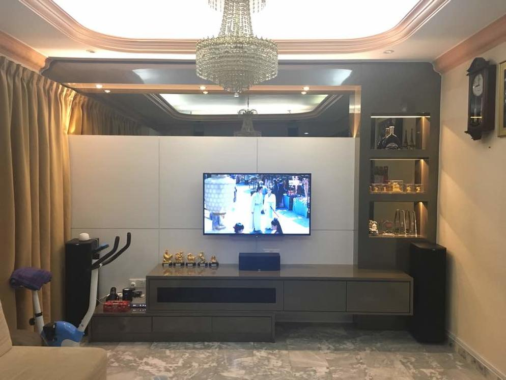 Living Hall Design,Kitchen Cabinet,Decoration-Jia Home