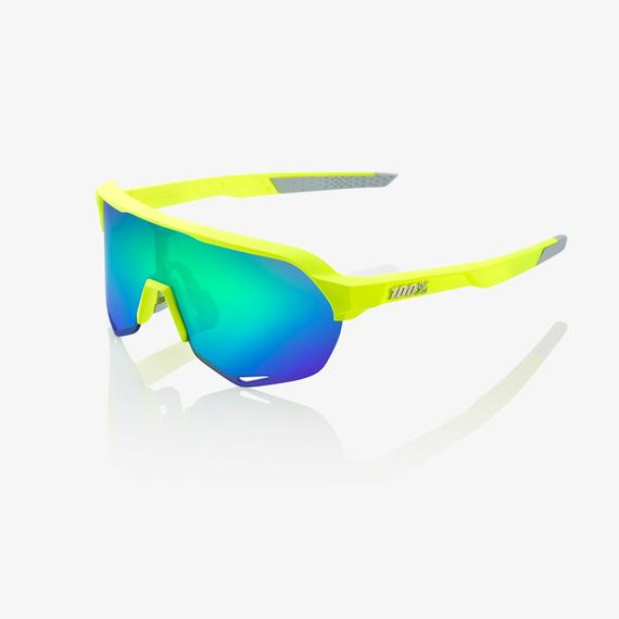 S2 Matte Fluorescent Yellow Green Multilayer Mirror Lens
