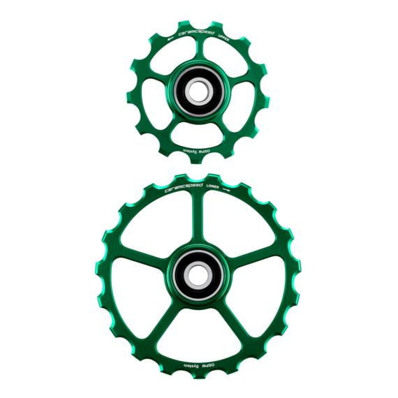 Oversized Pulley Wheels 13/19 tooth - Green Ltd. Edition