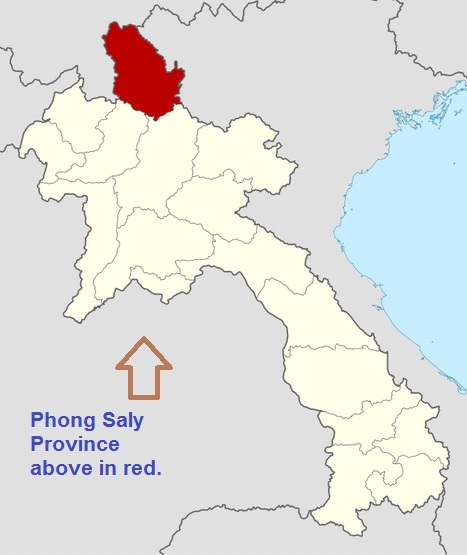 Location of Phong Saly Province