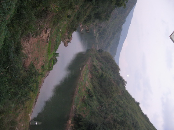 Nam Khaan River at Kua District Phong Saly