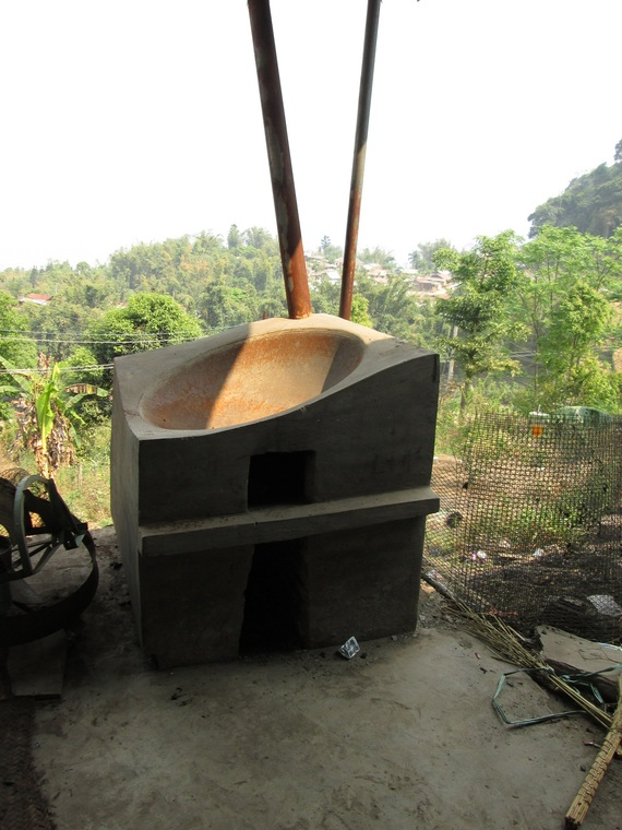 Family size village tea roaster