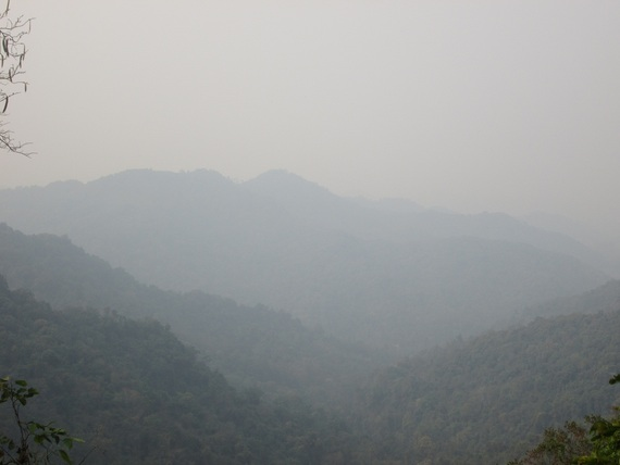 Mountains view near Phong Saly town