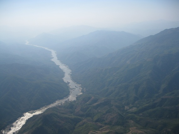 Nam Ou River Valley with rice and maize swiddens