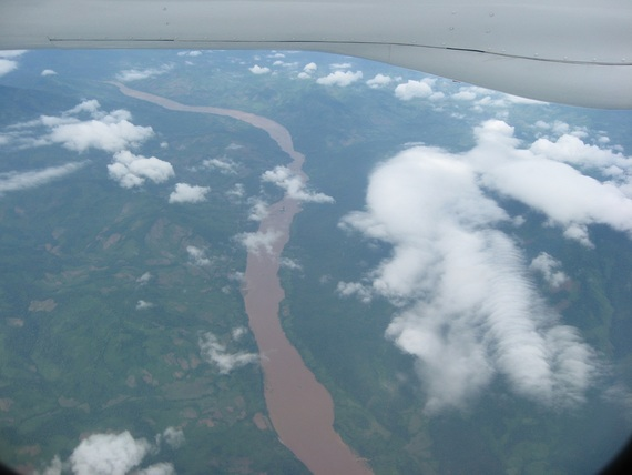 View of Mekong River north