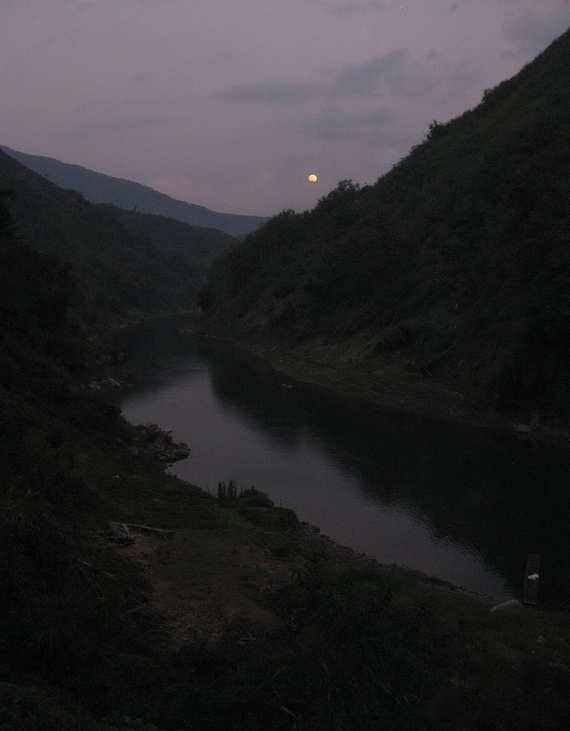 Nam Pha River view Moonlight at Kua District to Ou River PSL