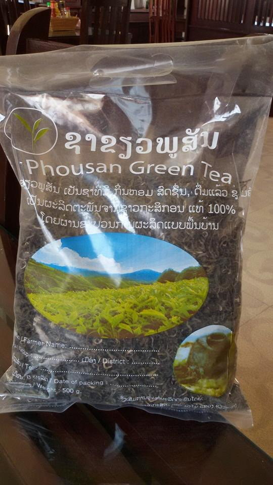 Xieng Khouang Province, Laos. 100 year old tea. Phou San Mountain tea. Probably a Puer varietal from China. Local legends say that the original Phou San tea seedlings were donated from the last Emporer of China about 1915. The tea trees are now 2.2 meters