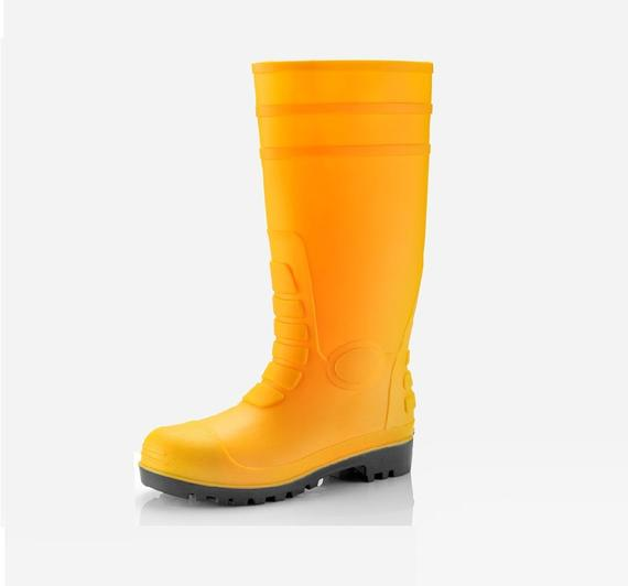 BW638(GUM BOOTS,PVC BOOTS,WELLINGTON BOOTS)(STEEL TOECAP   MIDSOLE)YELLOW resize