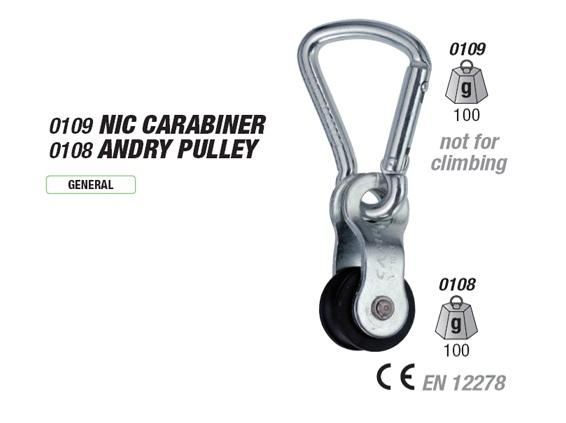 NIC CARABINER + ANDRY PULLEY