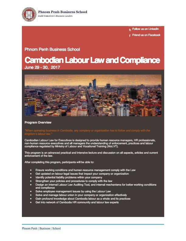Cambodian Labour Law and Compliance