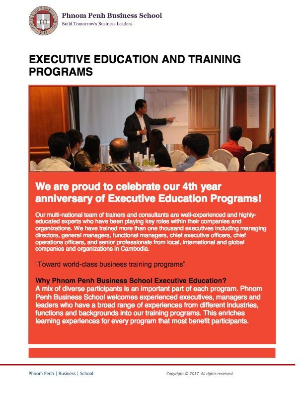 Executive Training Programs