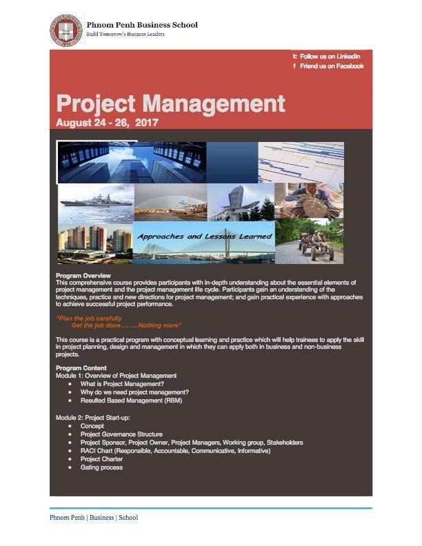 Project Management Training Program