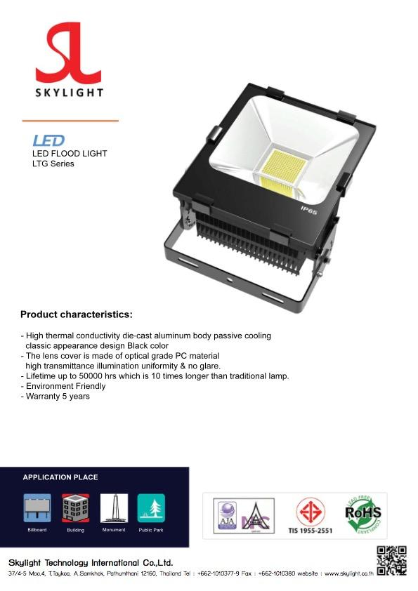 Led Lighting Product Flood Light Standard LTG Series
