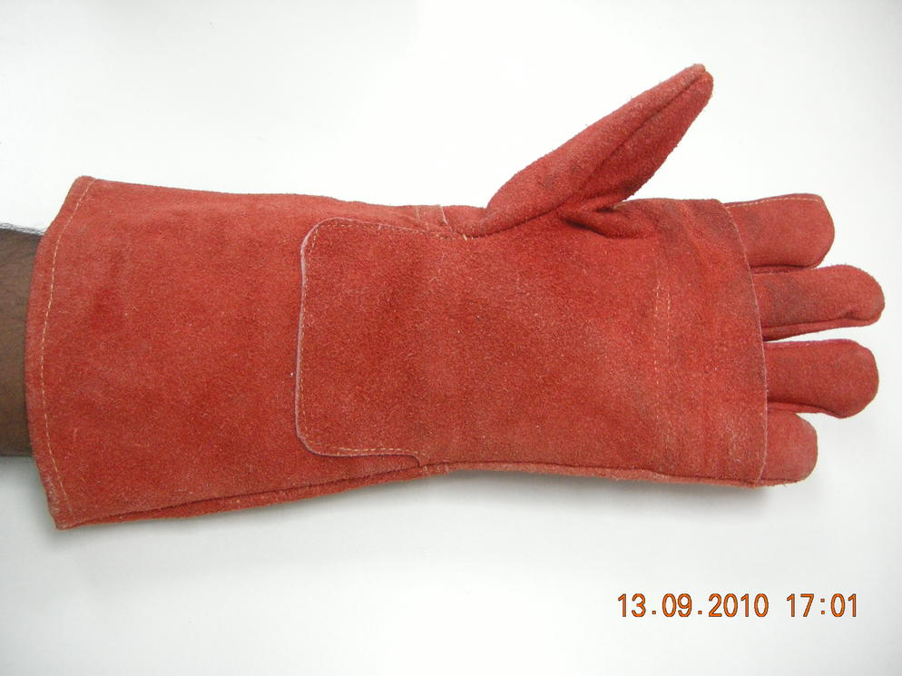 Full Leather Heat Resistant Glove Hand Protection