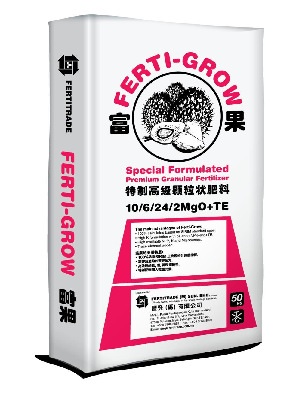 Ferti-Grow Red 10/6/24/2MgO+TE - Fertilisers - Fertitrade (M