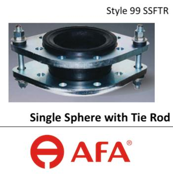 Afa Rubber Flexible Joint Twin Sphere Union And Flange