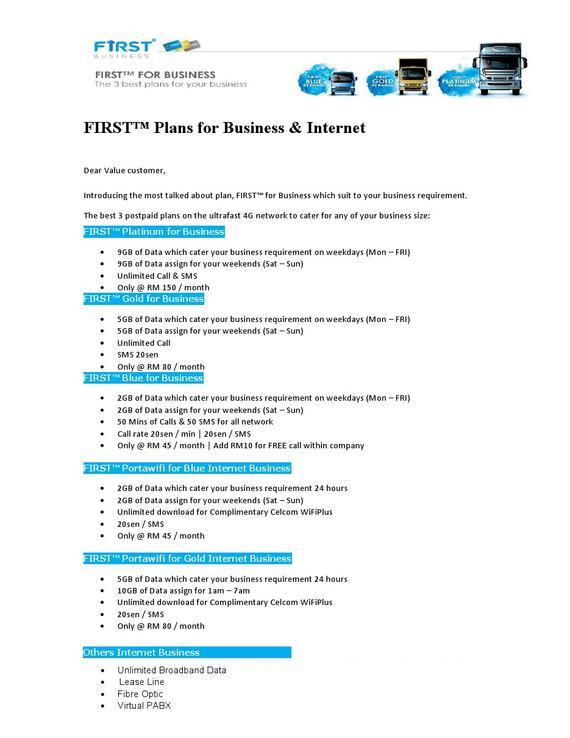 UNLIMITED INTERNET & BIZ PACKAGE - Flyer - Telecommunication